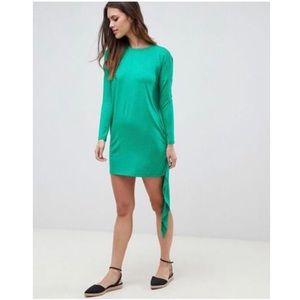 ASOS - Long Sleeve Asymmetrical Keyhole Dress